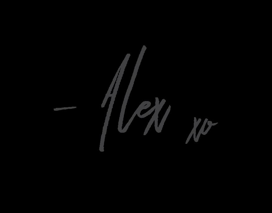 Alex xo