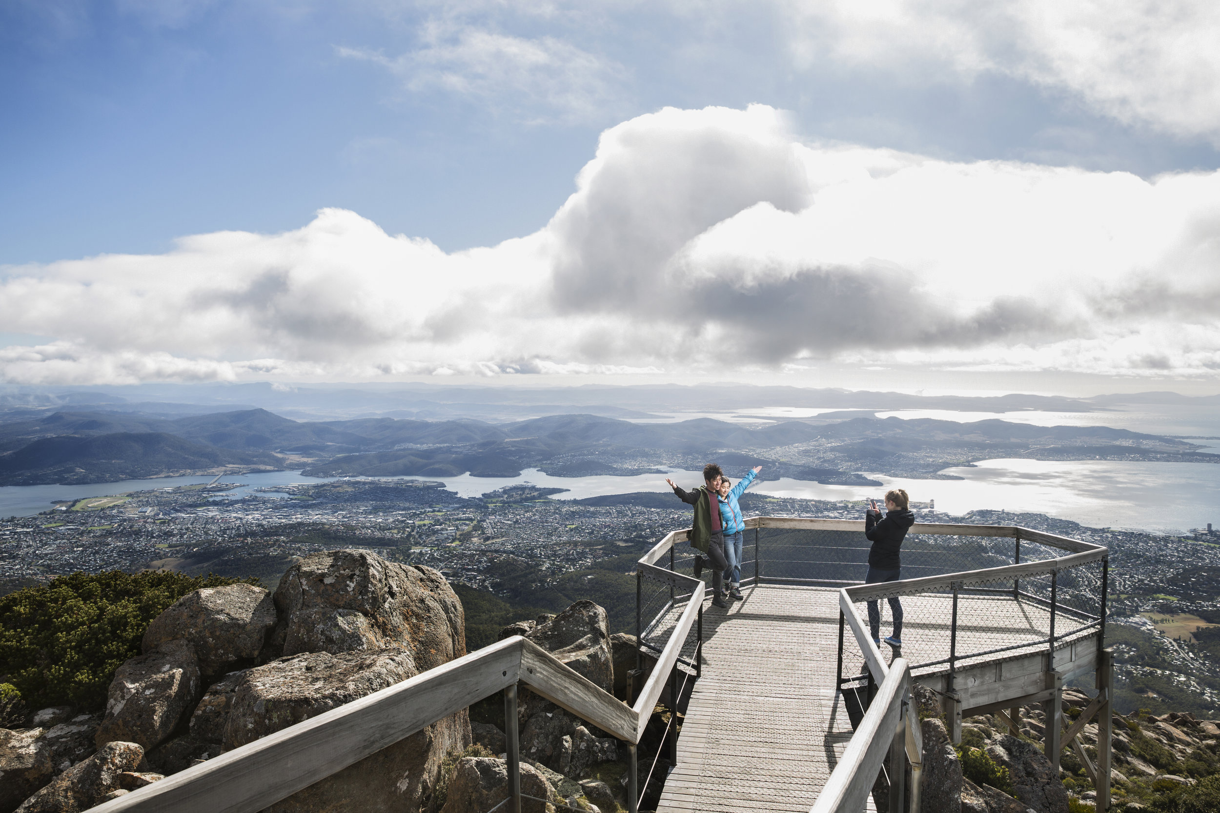 kunanyi/ Mt Wellington. Imposing itself on the Hobart skyline at 1200 meters, this is a must visit when coming to Hobart.