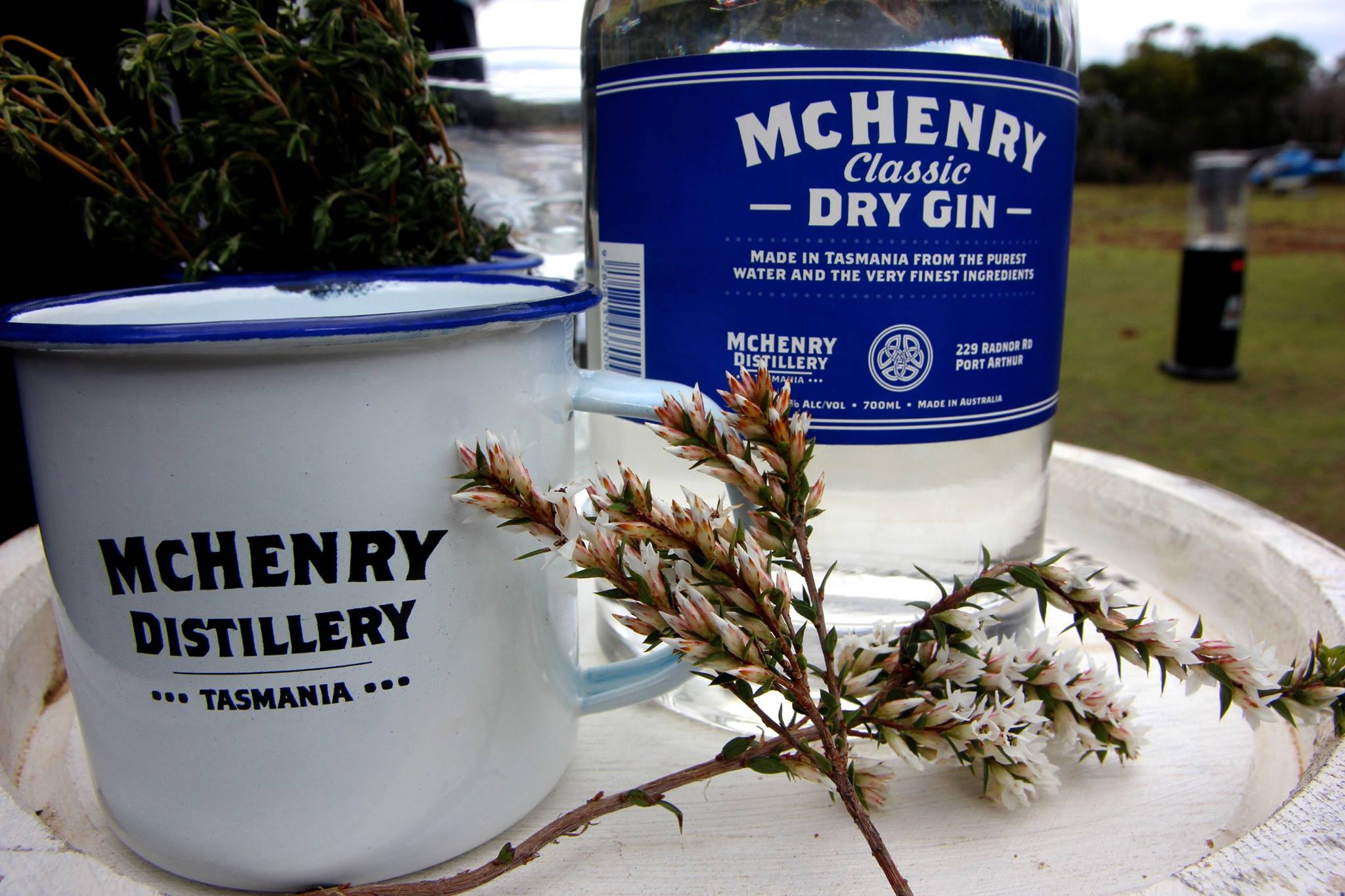 McHenry Distillery. The southernmost distillery in the world and the classic gin here, one of the first ones.