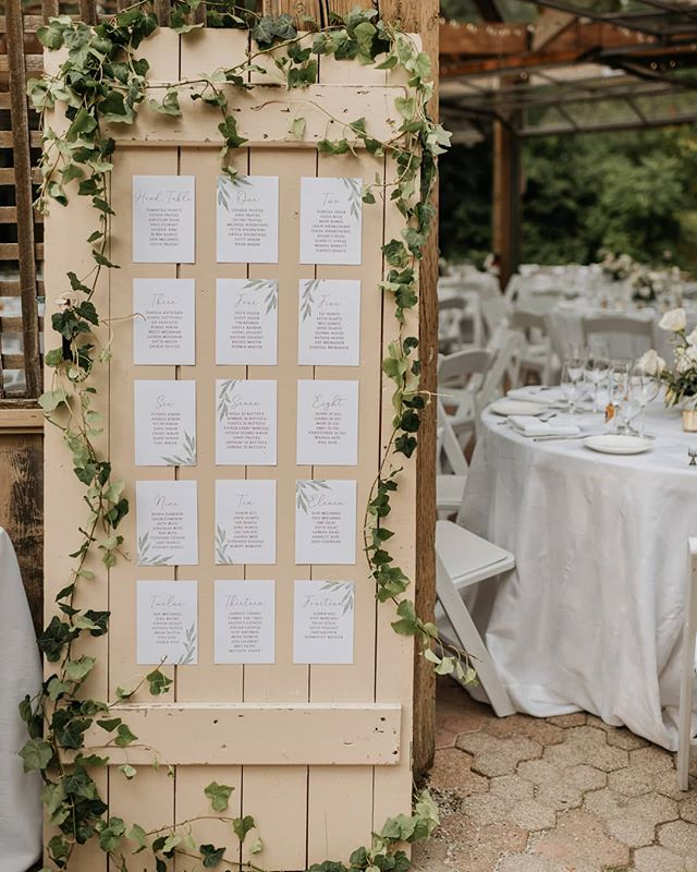 Ivy made for the perfect addition to this vintage door that we found at an antique market 🌱🚪 . . Photo by @saramonikaphoto  Stationary Design by @visuallyvee . . #seatingchart #vintagedoor #vintagedoorseatingchart #ivy #weddingreception #kortrightcentreforconservation #kortrightweddings #torontobrides #torontoweddingplannning #torontoengagement #torontoflorist #flowersofinstagram #floraldesign #floraldecor #bloomsbyspring #gtaweddingflorist #bloomsbyspringfloral #justsaidyes #weddingflorist #weddingdecor #bridaldetails #floral