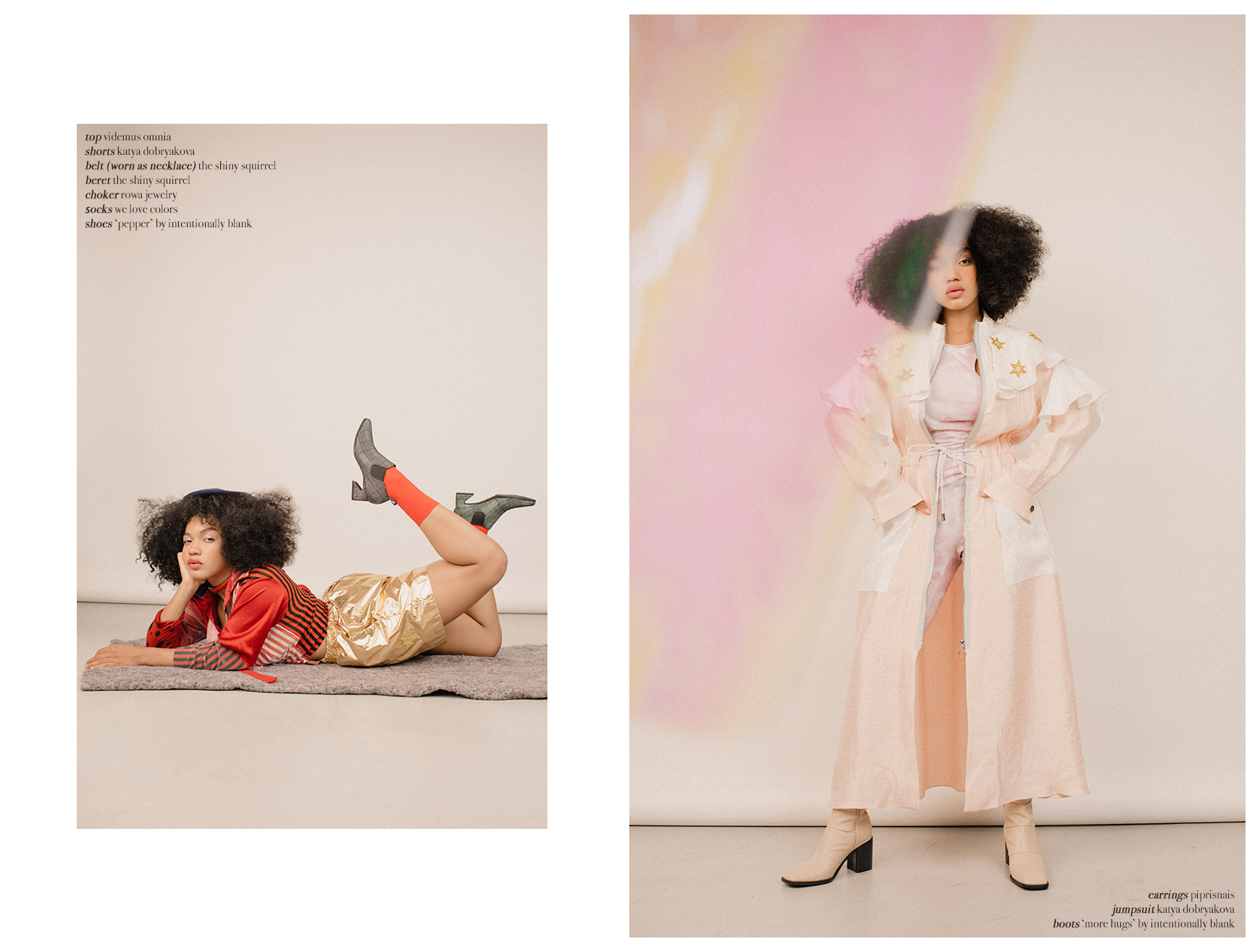 The pink Bianca jumpsuit in The Kunst magazine