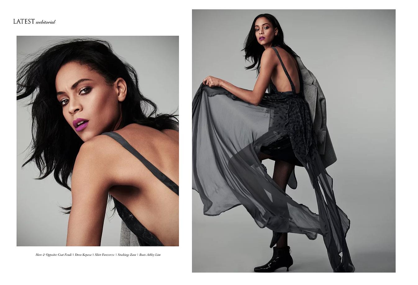 Kepaza's Wella dress featured in Latest magazine