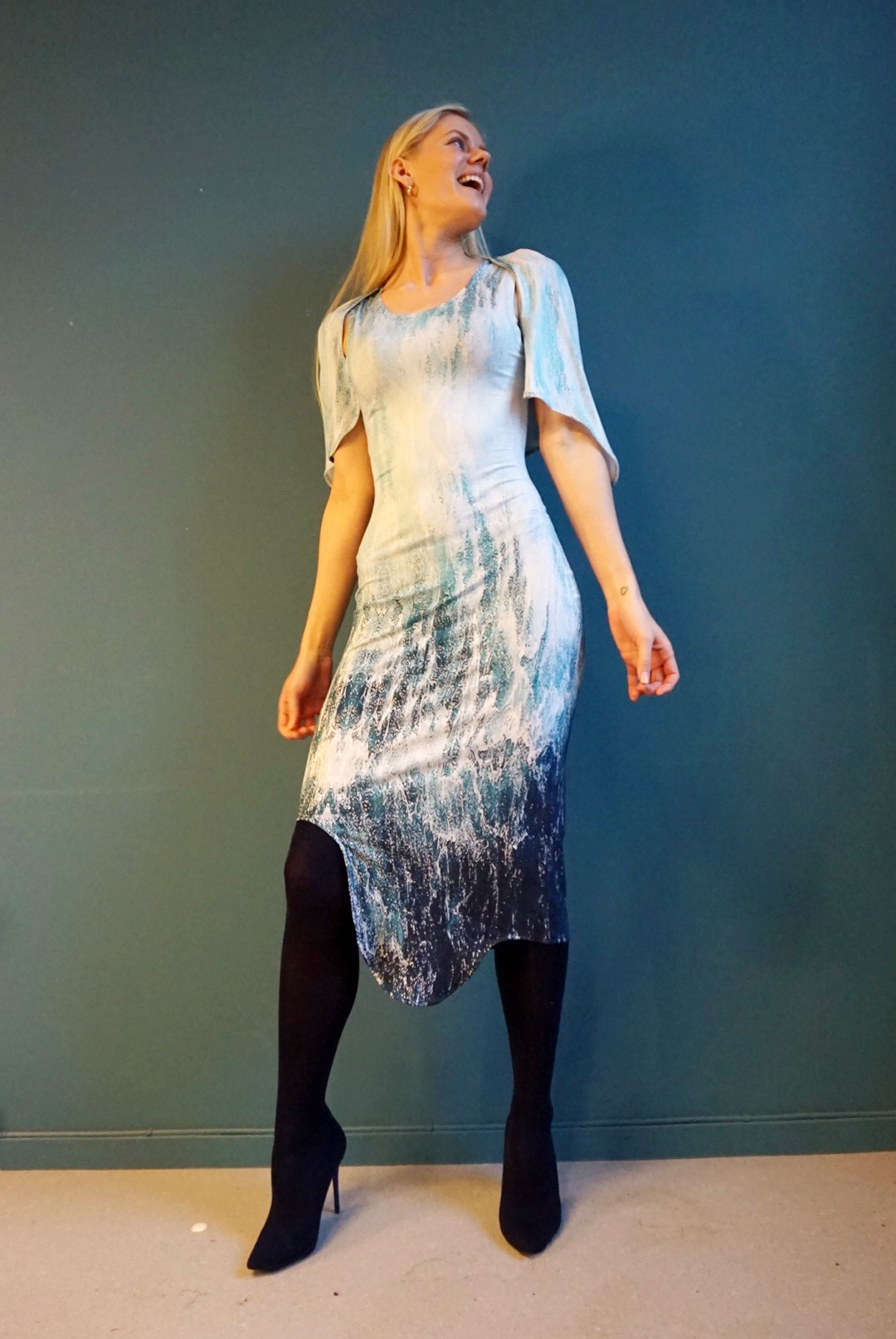 Filippa dress in sea print