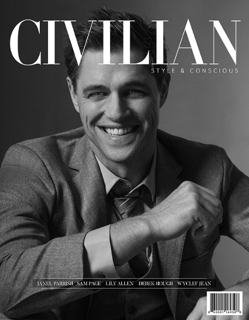 Samuel Page on the cover of Civilian magazine