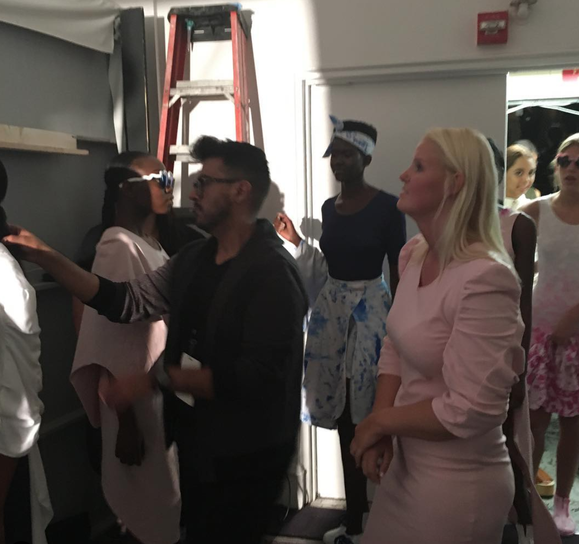 Behind the scene of our first runway show and it was at New York Fashion Week!