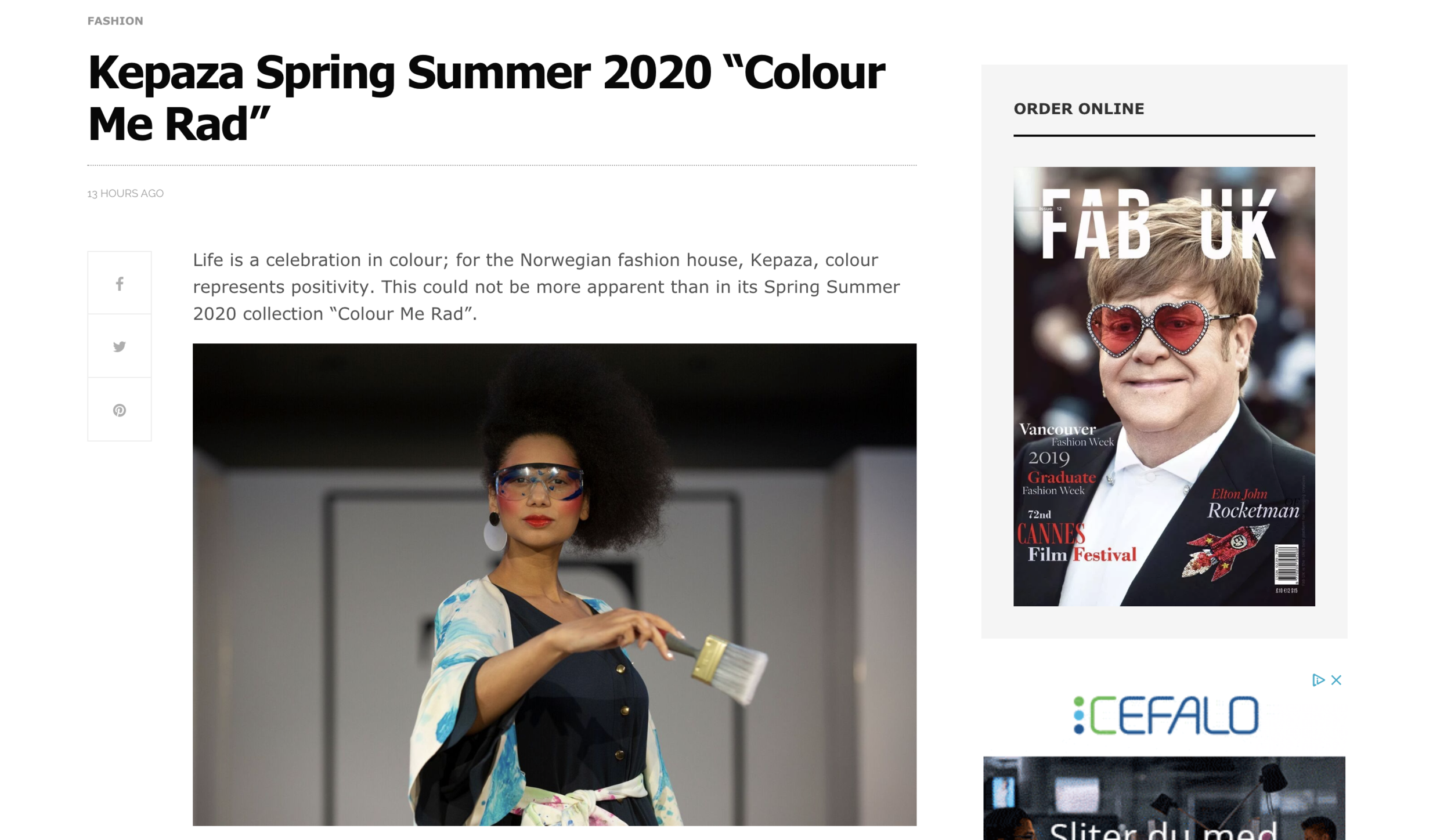 Kepaza in Fab UK magazine