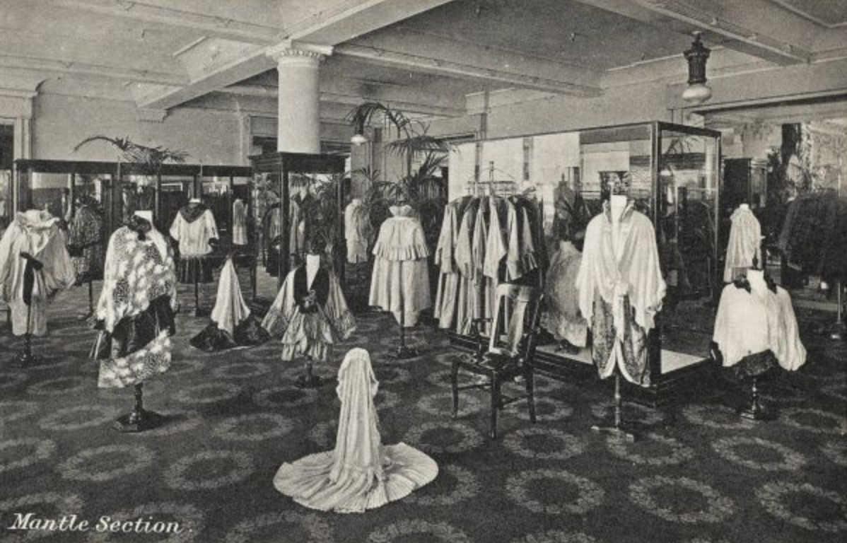 The Mantle (cloak) department at Selfridges in 1909