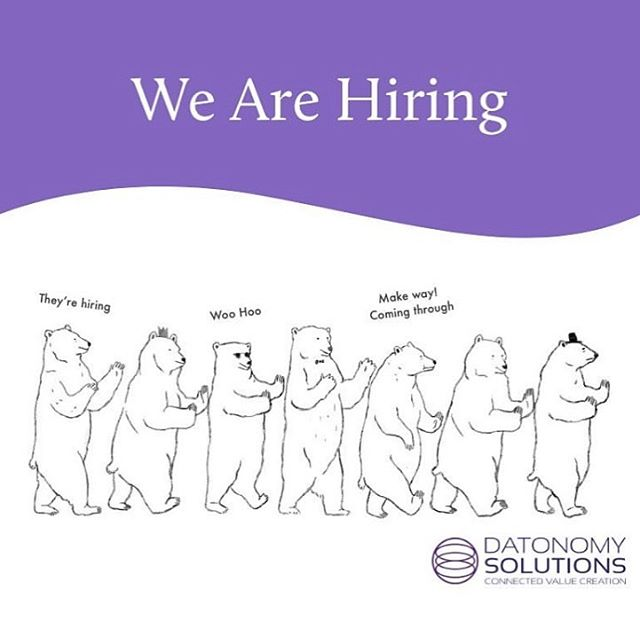 Have you heard? We're hiring! We love all things data and digital! Data Scientists, Business Analysts, Project Managers, we wanna see your CVs! If you're passionate about adding real value, mail us at Recruitment@datonomy.co.za