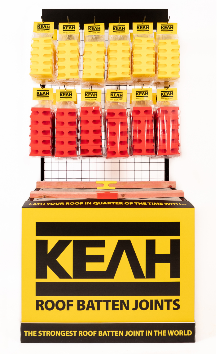 KEAH Roof Batten Joint point-of-sale stand