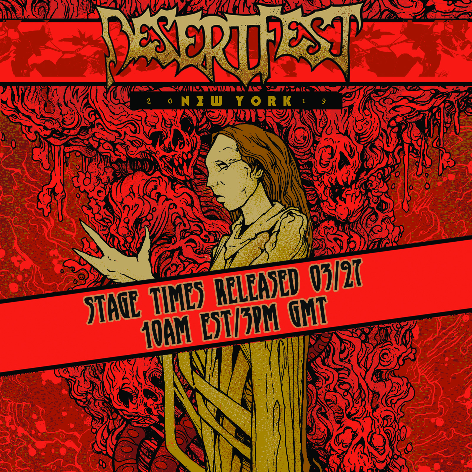 STAGE TIMES FOR SAINT VITUS + THE WELL RELEASED MARCH 27TH!