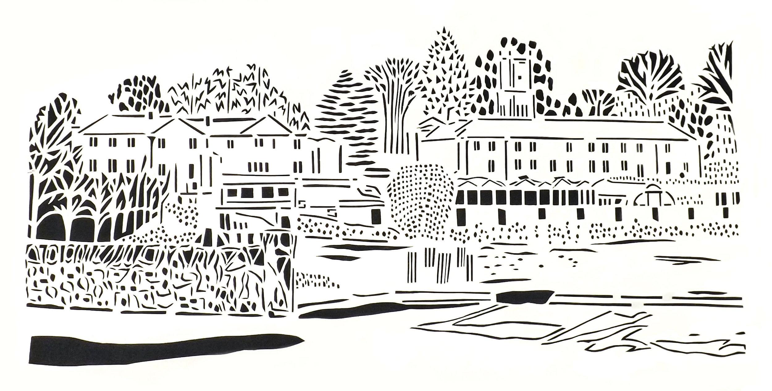Gelston, papercut, 29.7 x 42.0cm
