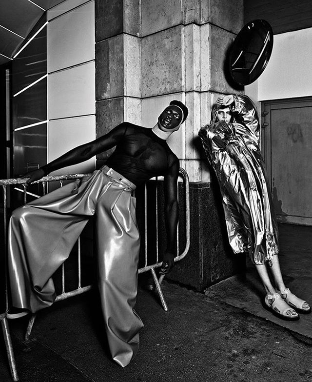 ARTHUR AVELLANO Latex Pants by @louisteran for @schonmagazine. Syling @izabelegiedre #arthuravellano