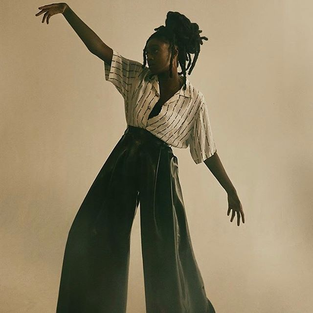 @littlesimz wearing ARTHUR AVELLANO Latex Pants by @undimancheenfamille for @modzik. Styling @diamante_ka #arthuravellano