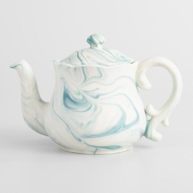 1. Green Marble Tea Pot - $19.99