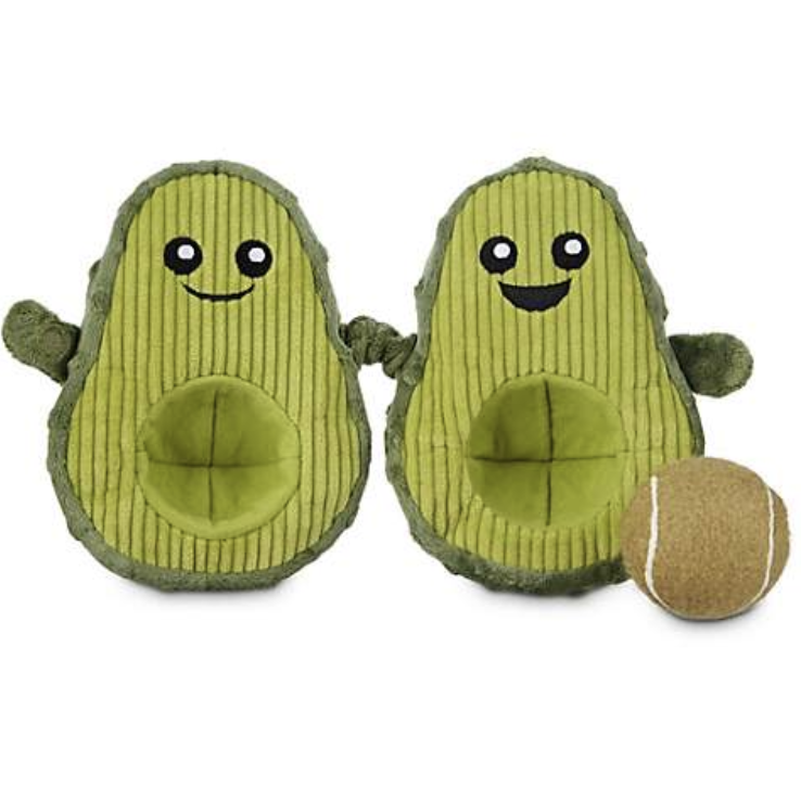 9. Leaps & Bounds Play Plush Avocado Dog Toy - $9.99