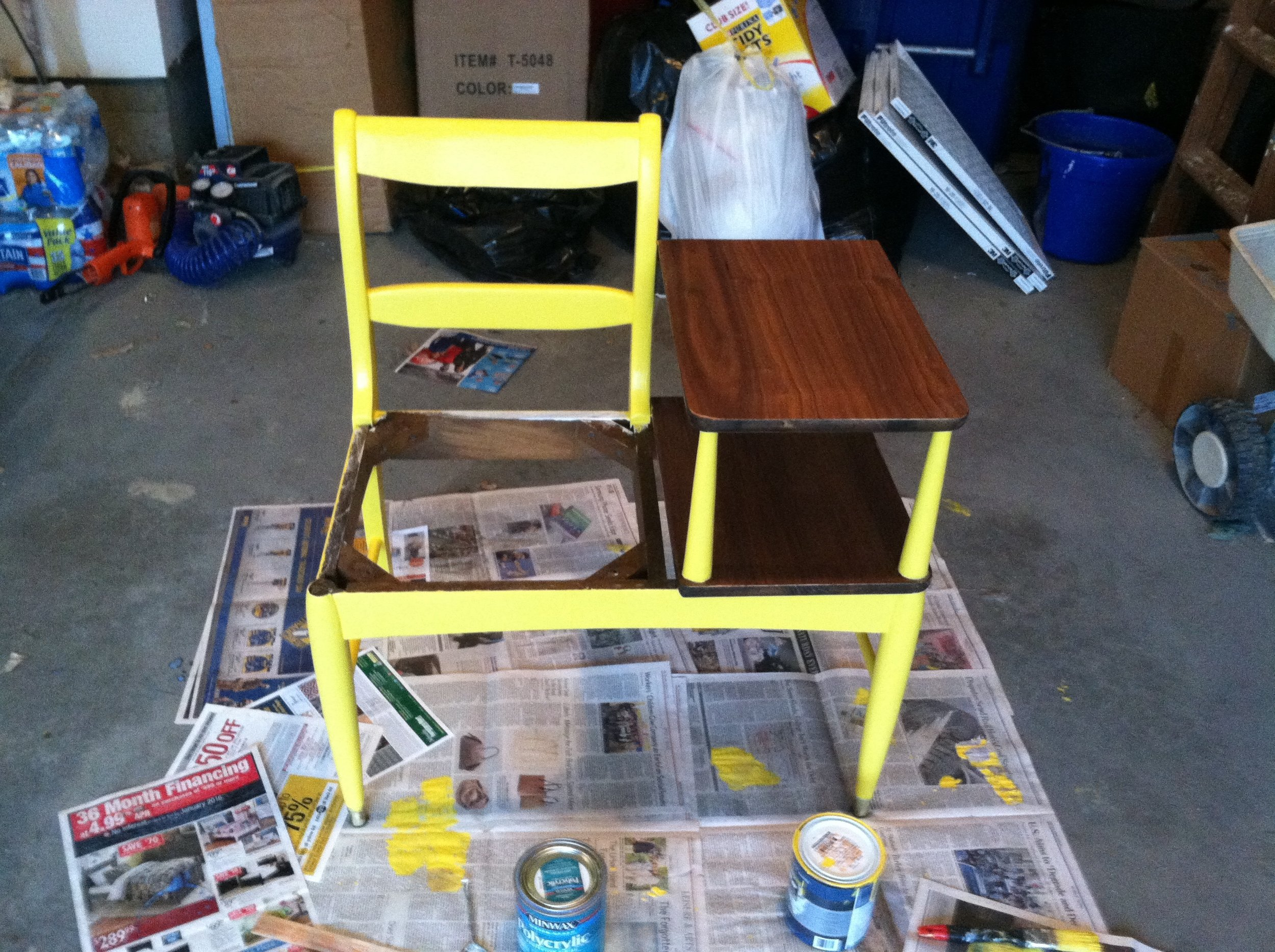 Telephone Chair Painted