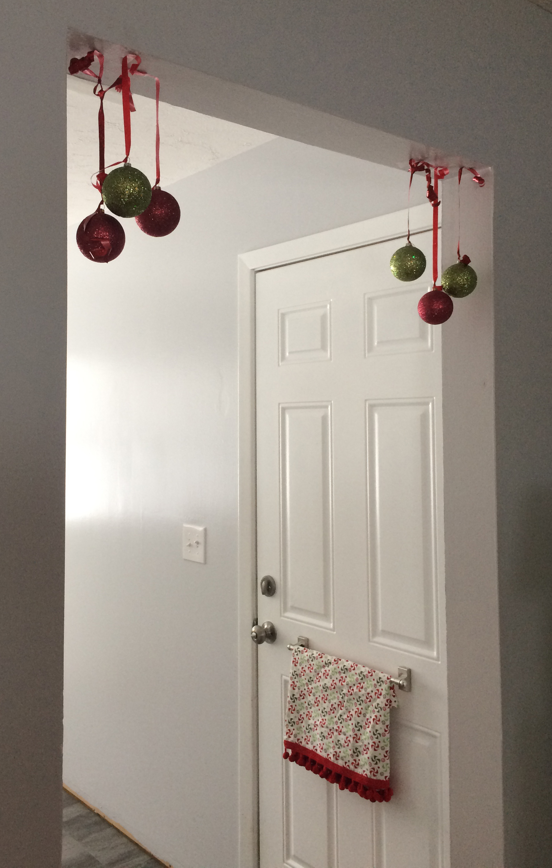 3. Hang Ornaments in Unexpected Places -