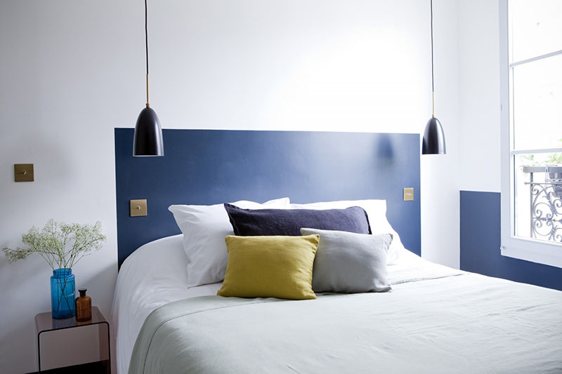 Painted Headboard - Easy DIY and Budget friendly.