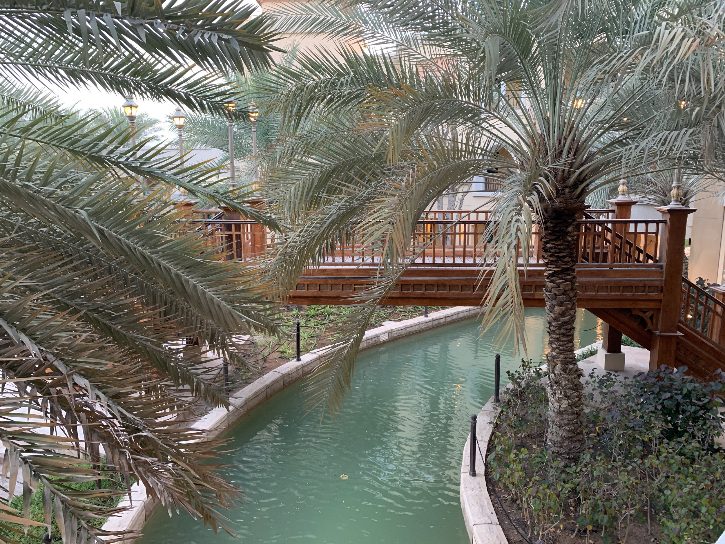 Shang-ri La Hotel Abu Dhabi. You can get a boat ride to your room!