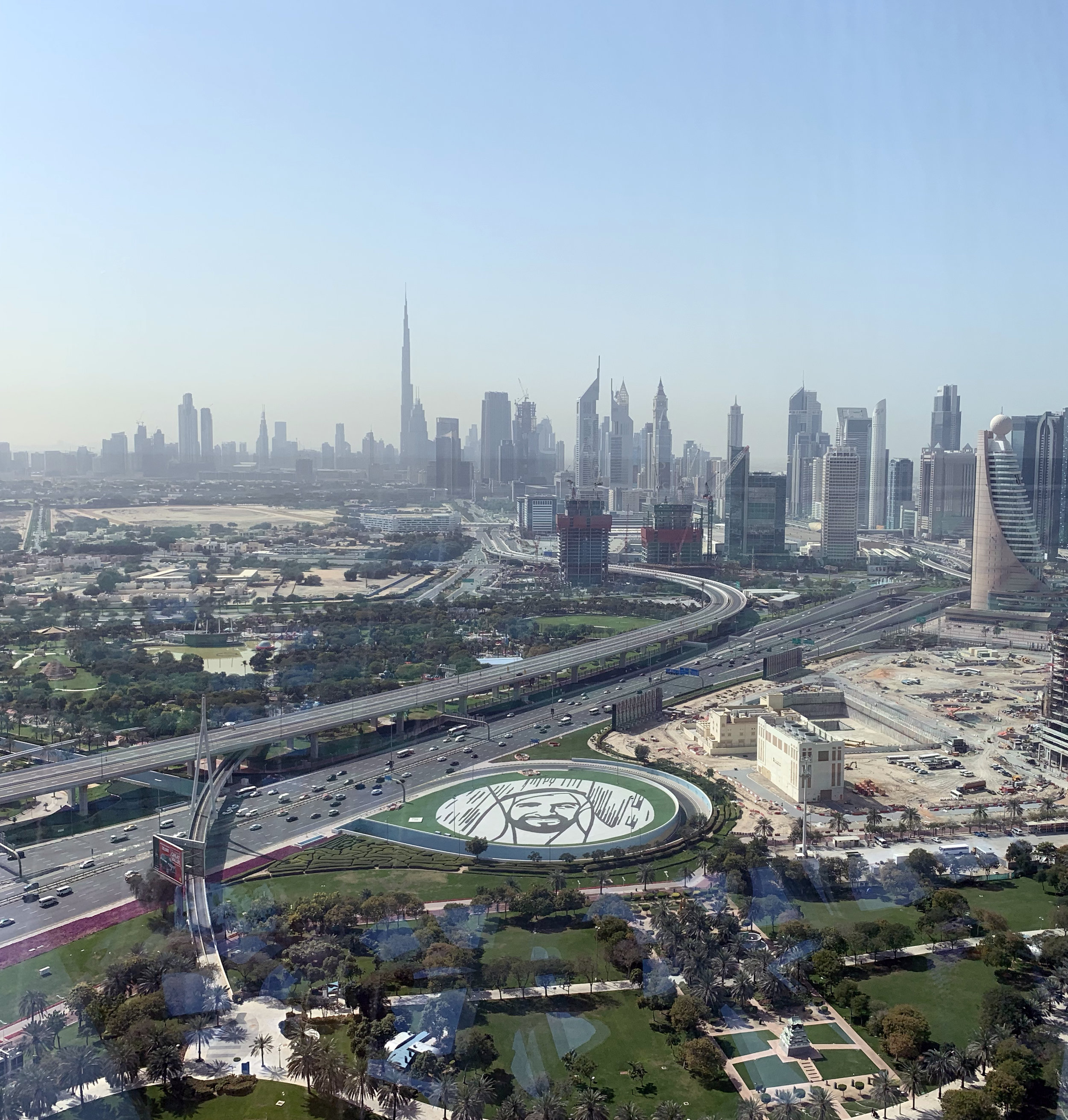 Out the other side of the Frame you can see New Dubai-complete with the Burj Khalifa