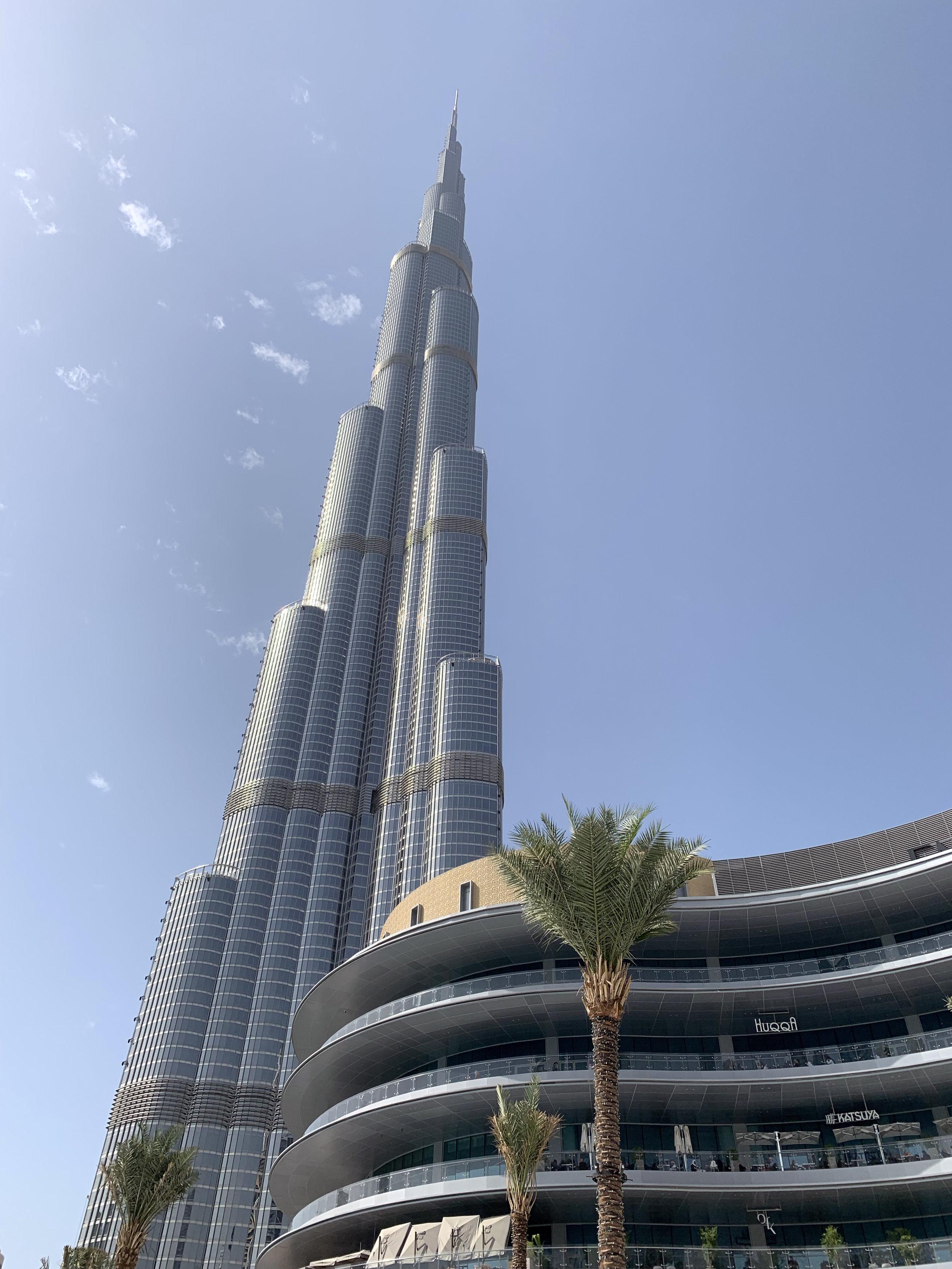 Burj Khalifa, outside Dubai Mall