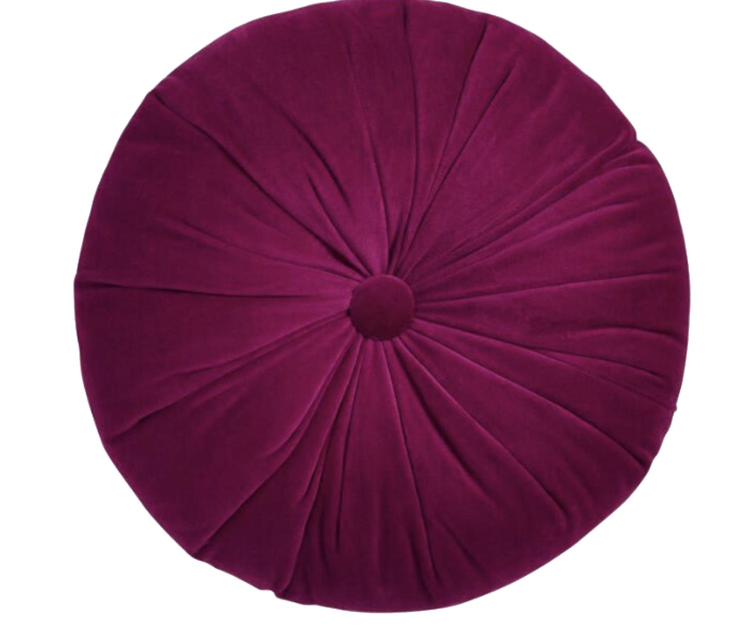 Fuscia Round Pillow.png
