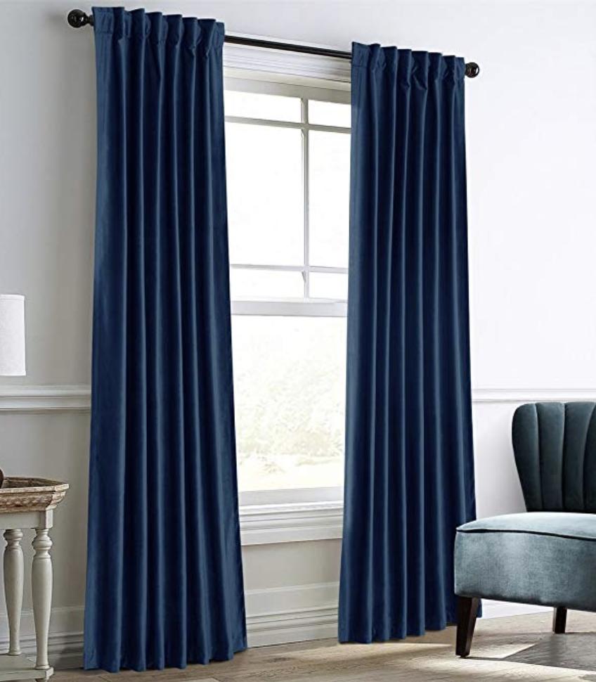 Blue Velvet Curtains