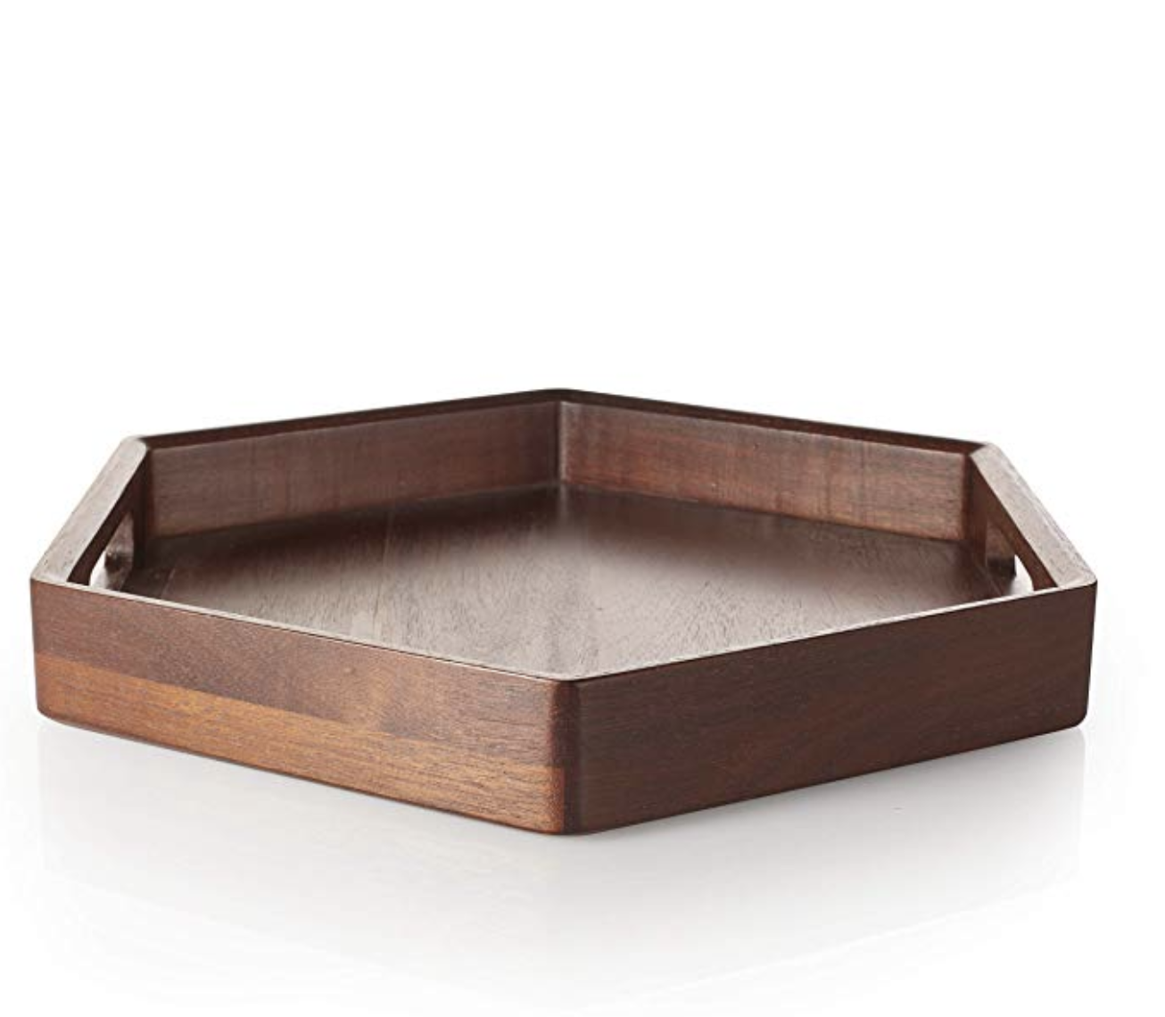 Hexagonal Wood Tray