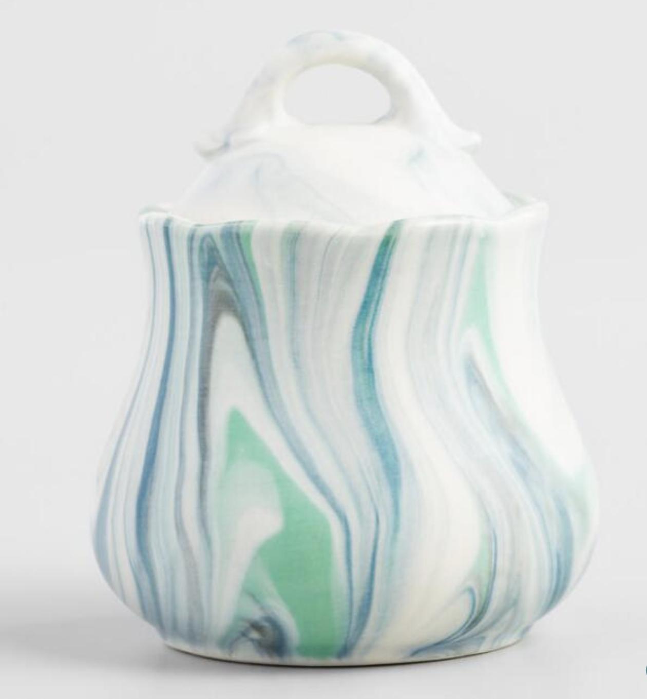 Marble Sugar Pot