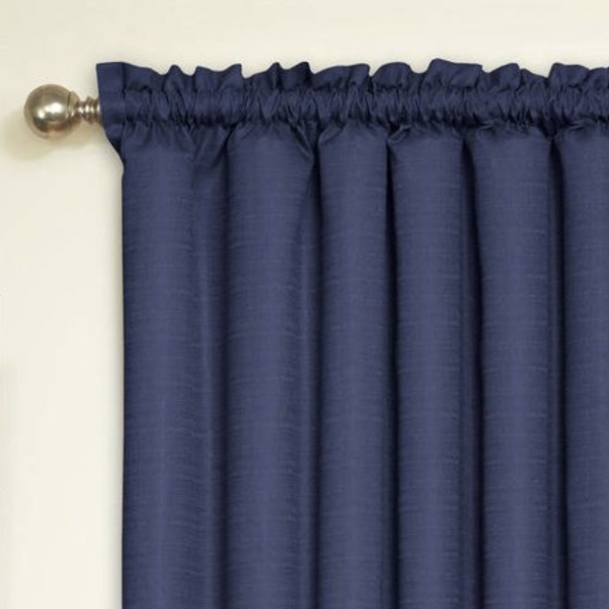 Blue Black-Out Curtains