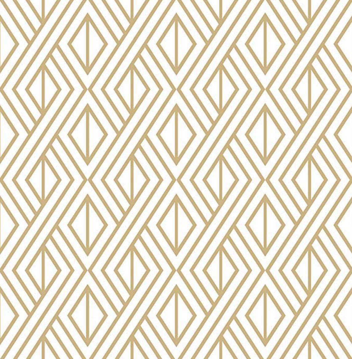 Gold & White Diamond, Peel and Stick