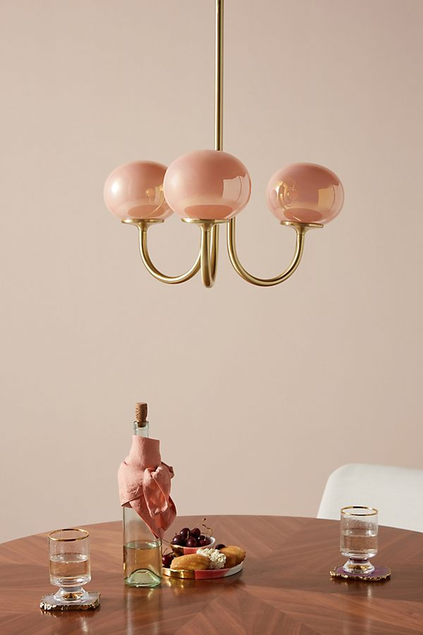 Peach Pearl Chandelier - Available at Anthropologie