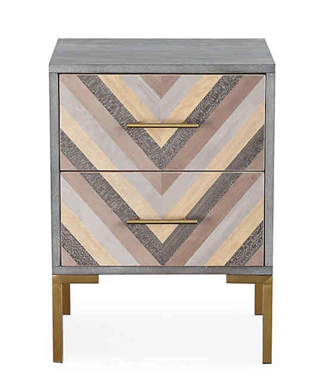 Striped End Table