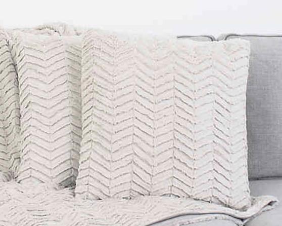 White Knit Throw Pillow