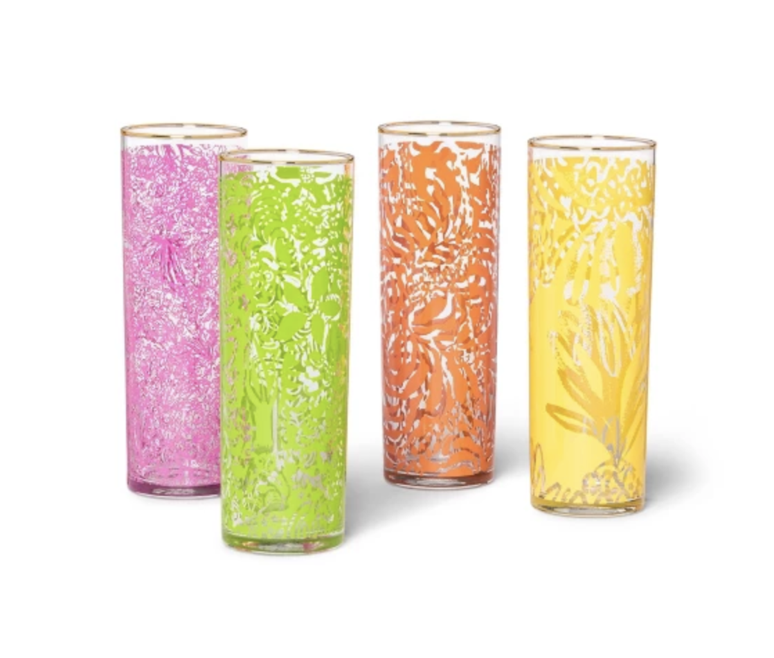 Lily Pulitzer Cocktail Glass Set -