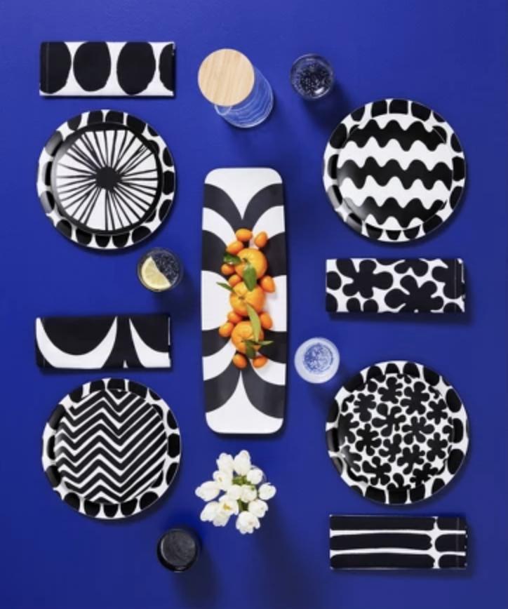 Marimekko Black/White Napkins -