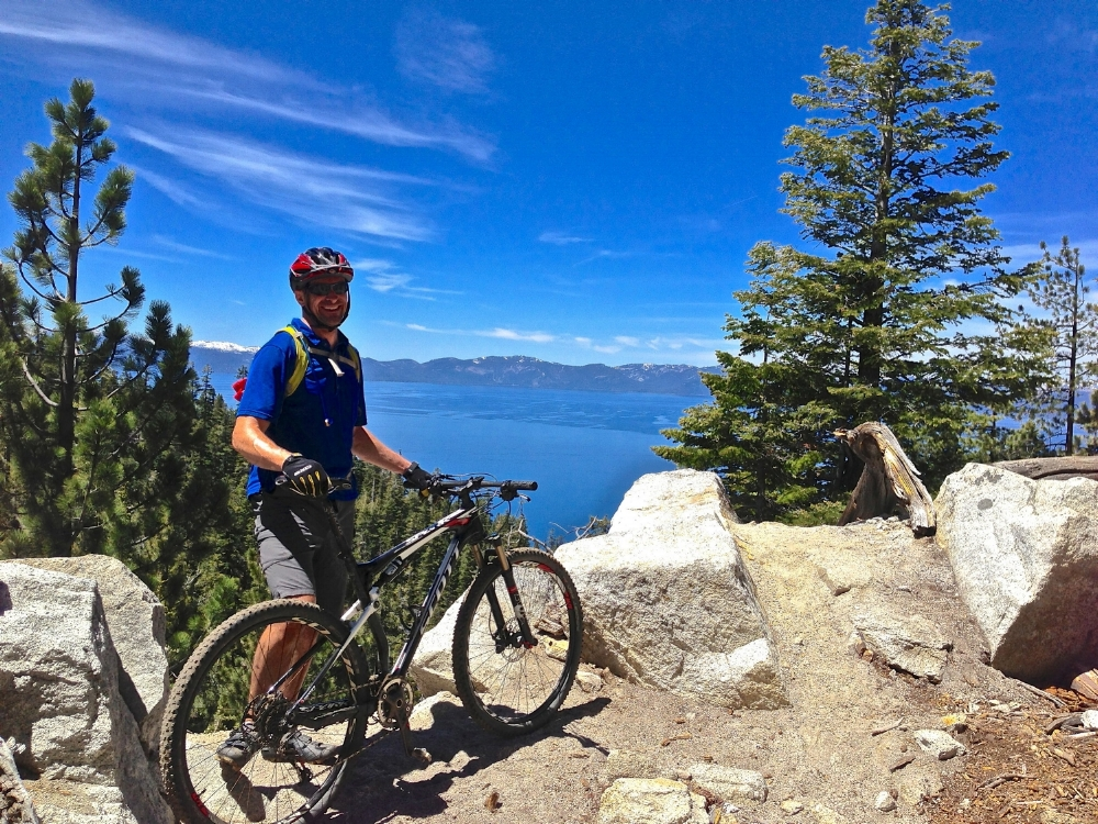 Ryan riding the Flume Trail in Tahoe in 2013.