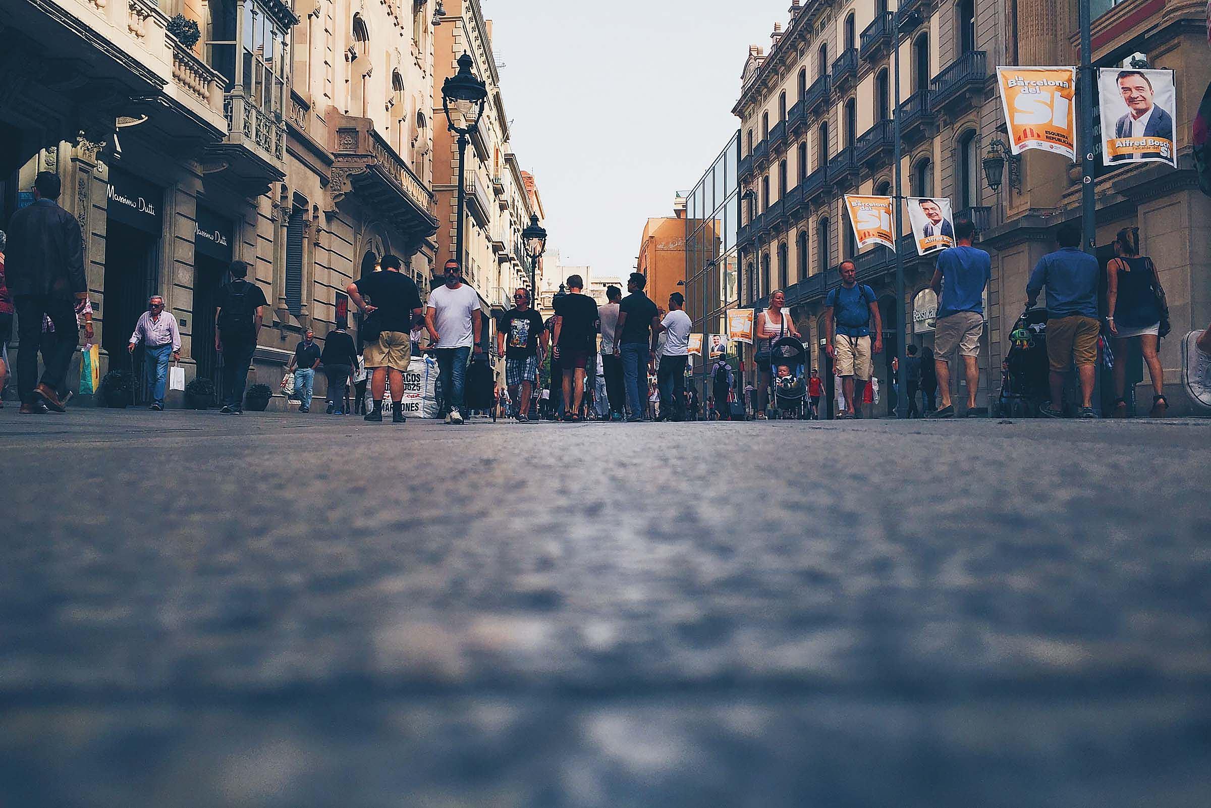 Low Angle Barcelona Street