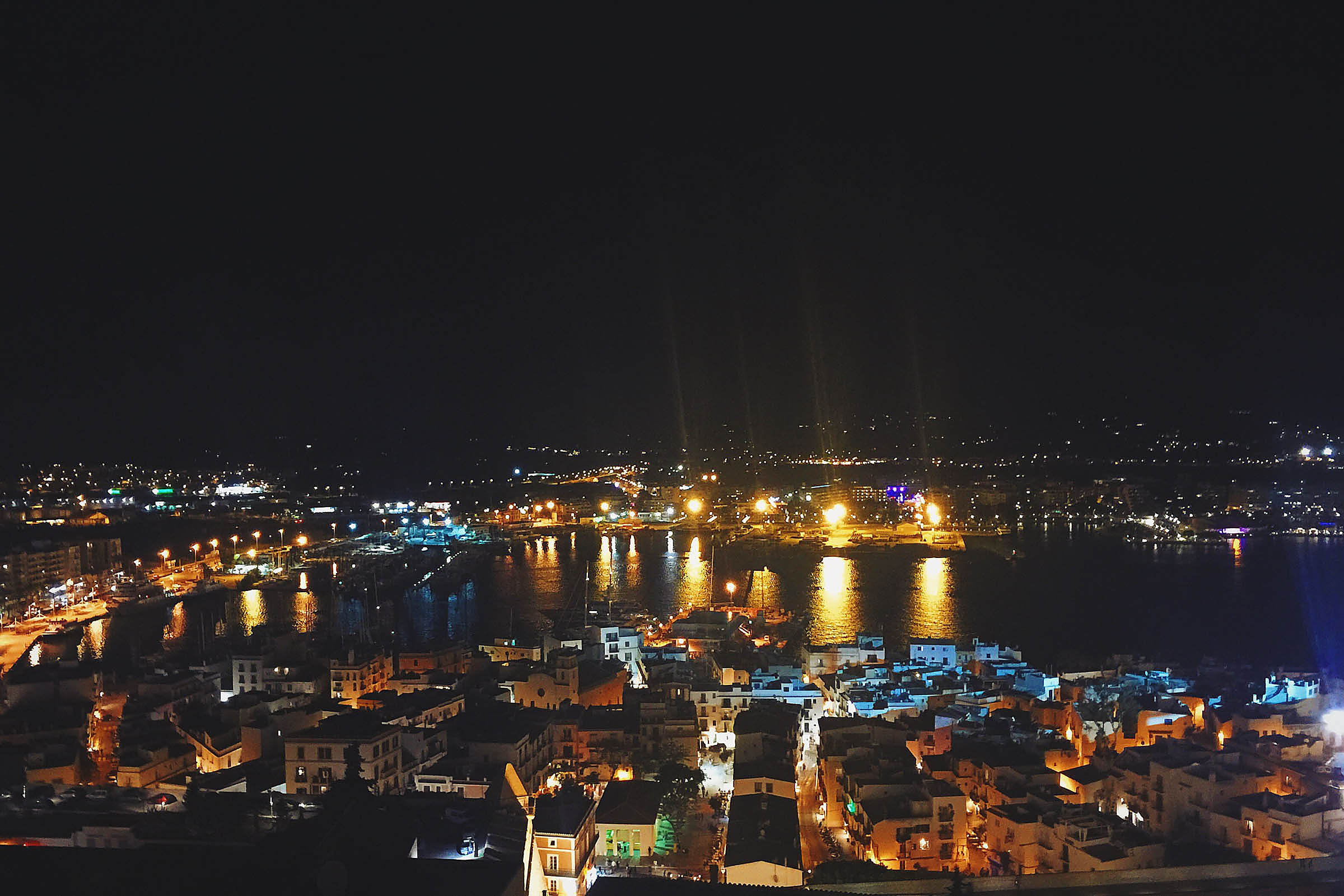 ibiza city from the castle