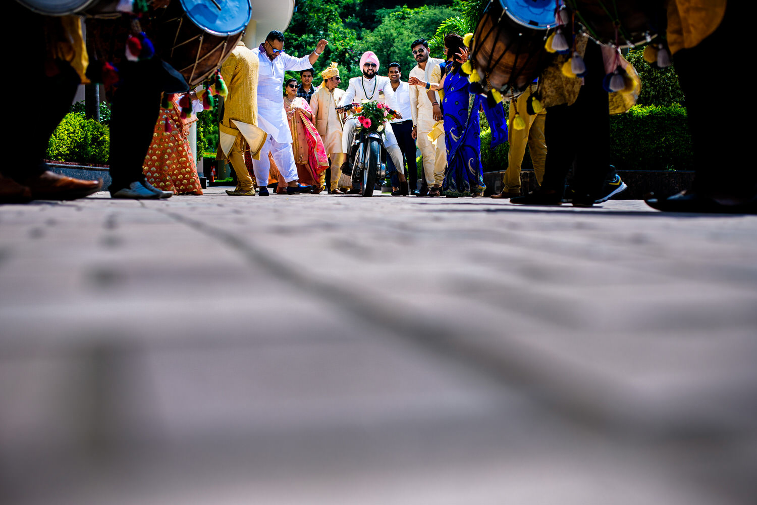 Baraat on a bike