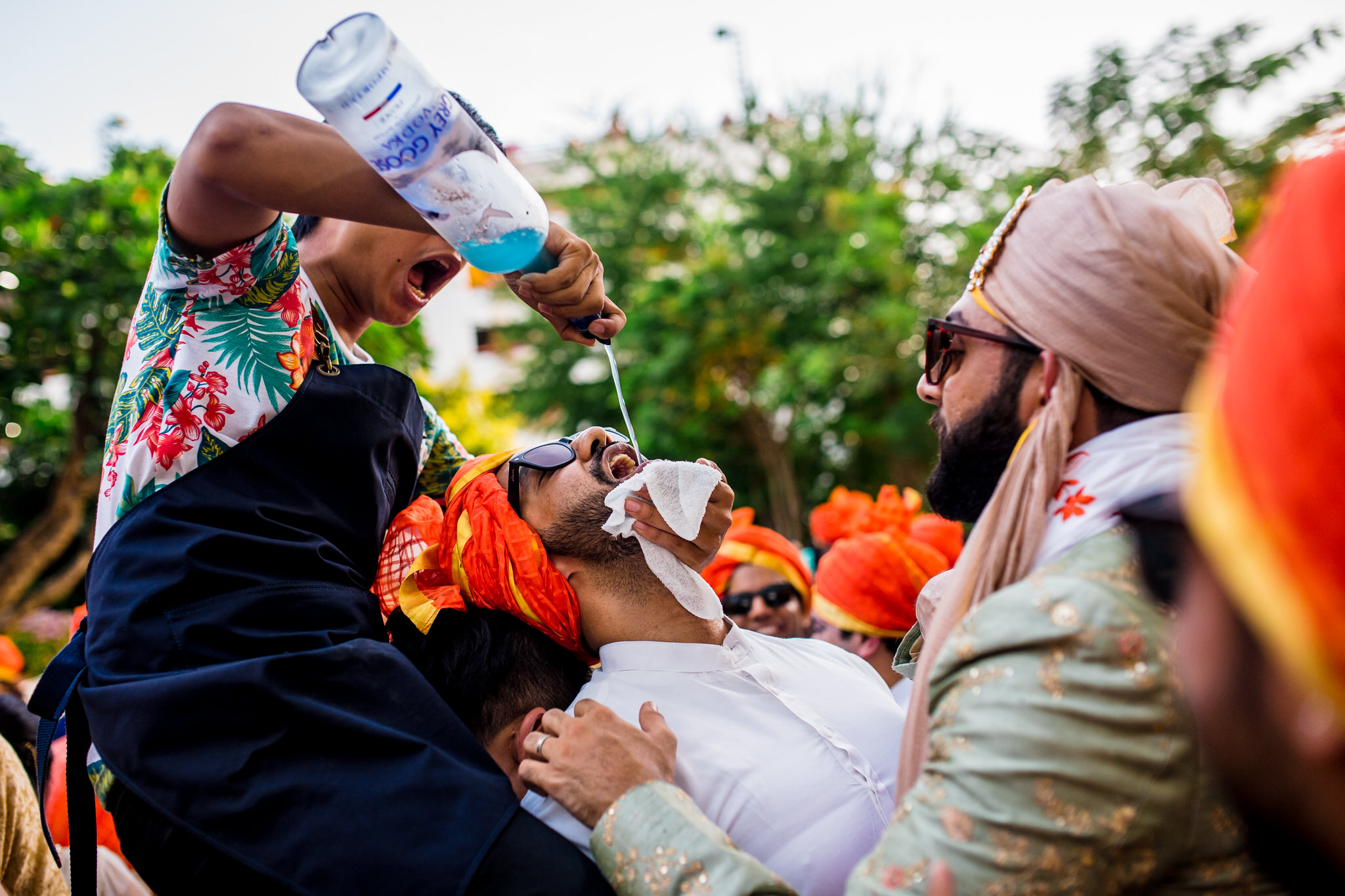 drinking at the baraat