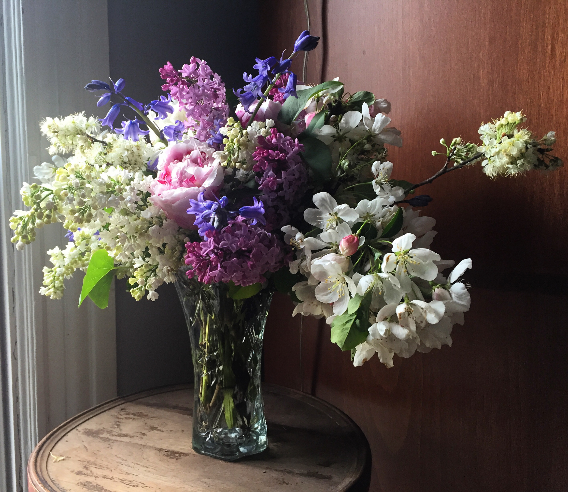 Ephemera Designs Floral Photography of white and purple flower arrangement in vase