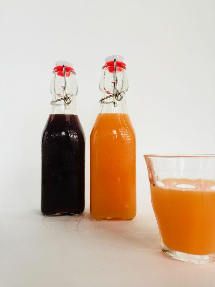 grape and orange carrot soda's naturally fermented