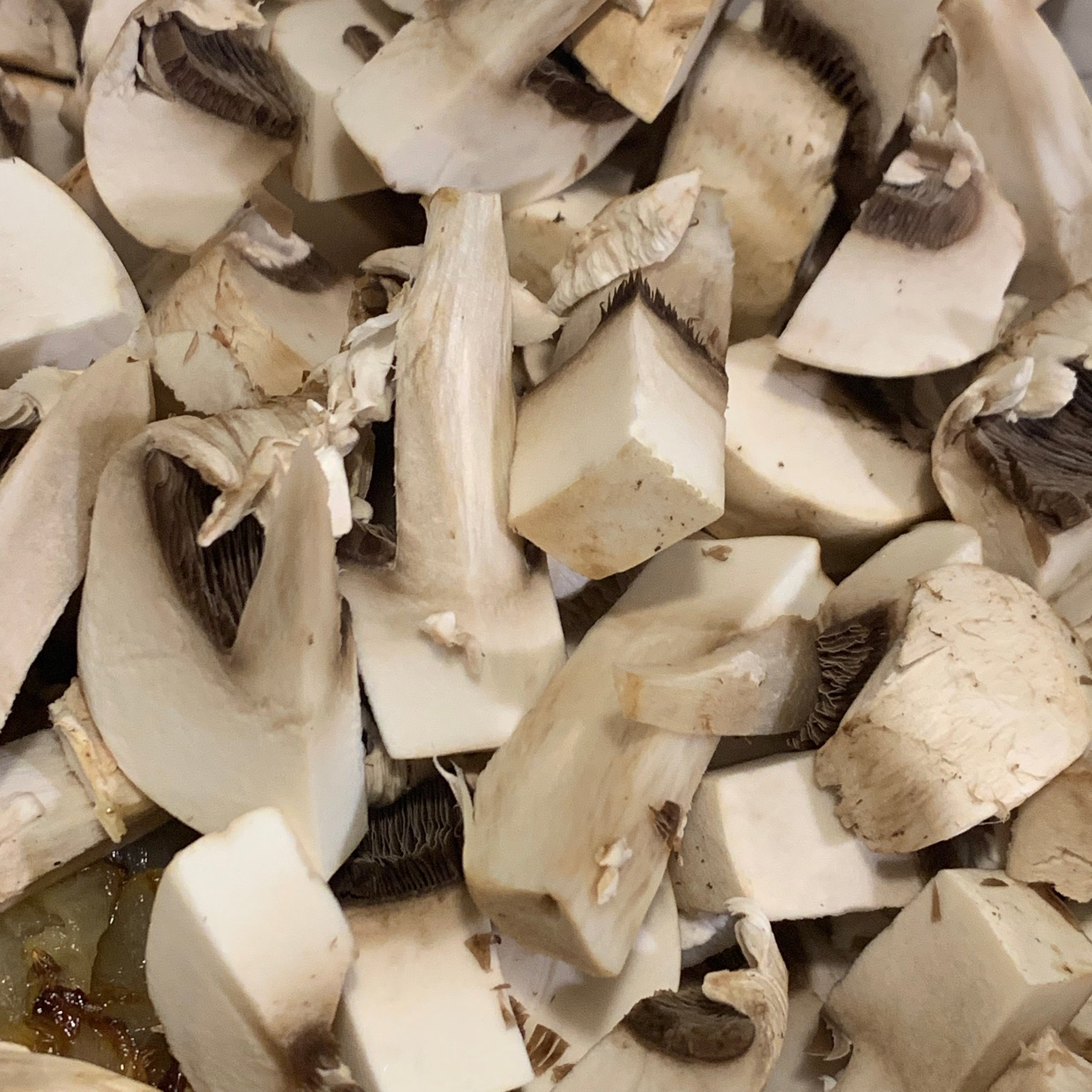 chop your mushrooms coarsely