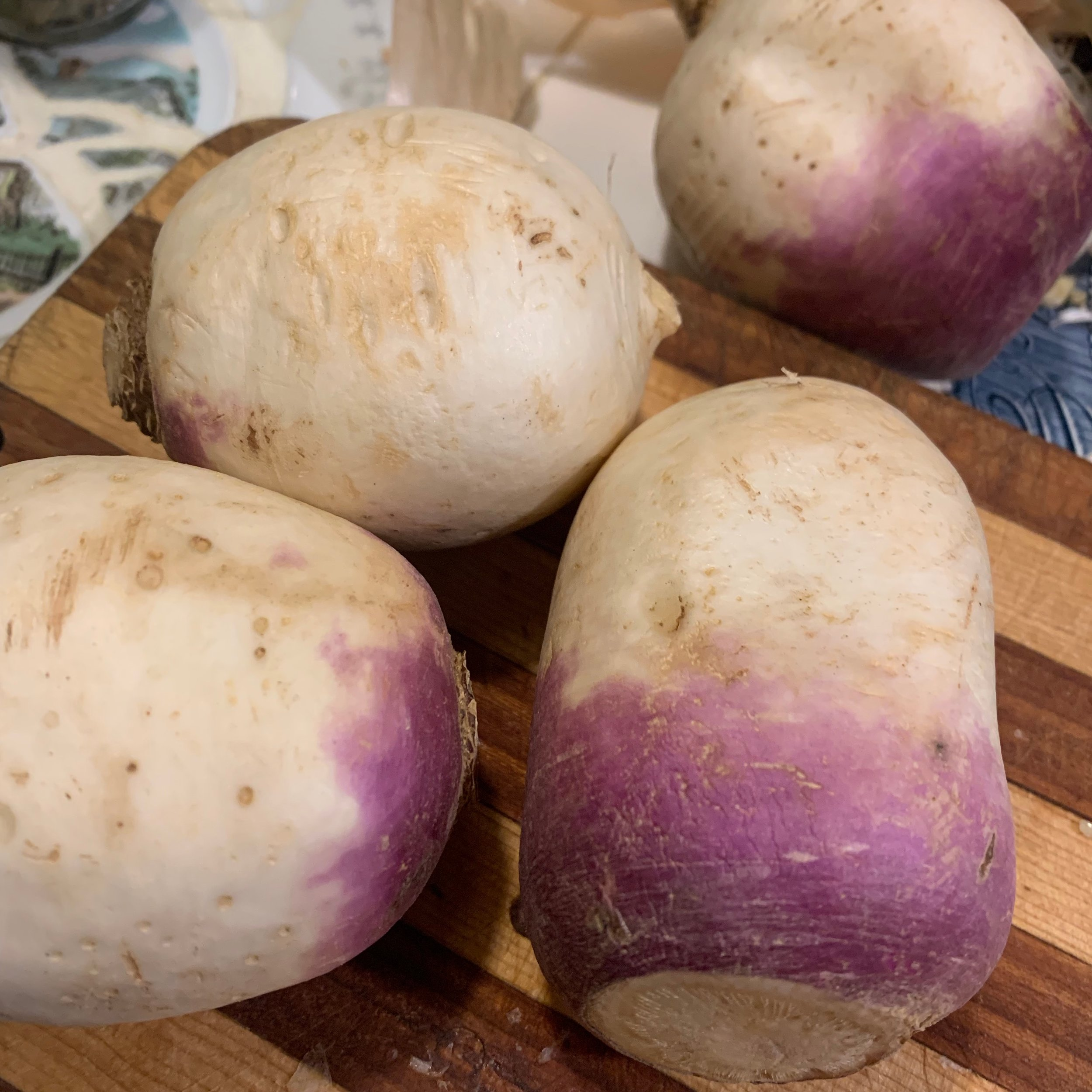 turnips are a fun white ingredient, lighter in taste than potato