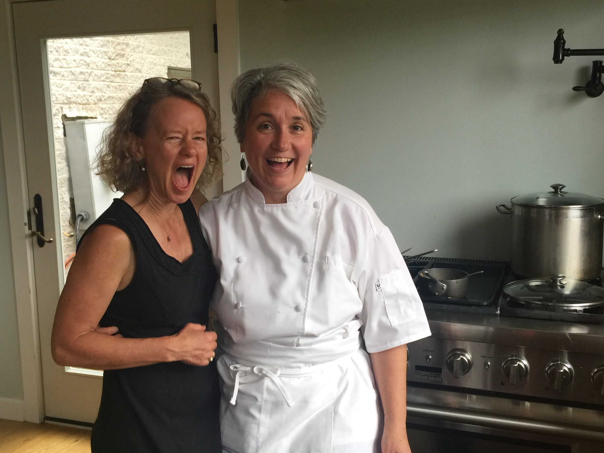 Me with Monica Corrado, assisting for her local certification program for nutritional cooks
