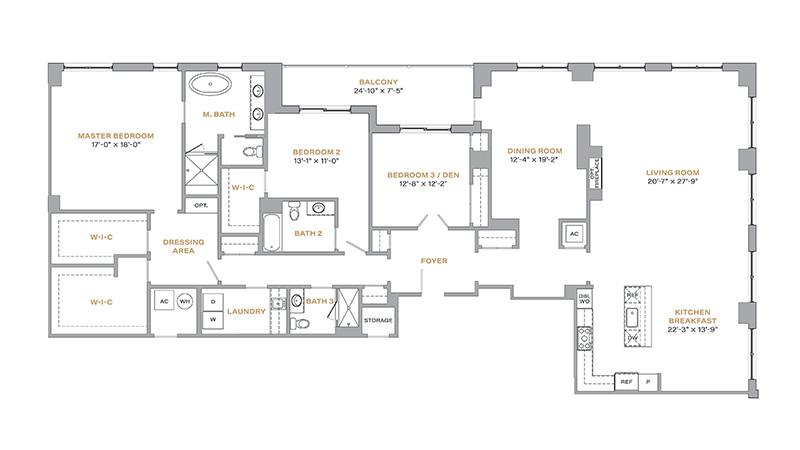 201 - 2,882 SF • 3 Bedrooms • 3 Baths