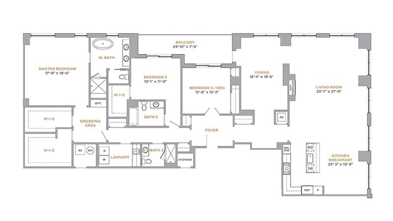 301 - 2,868 SF • 3 Bedrooms • 3 Baths