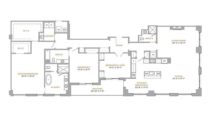 305 - 2,675 SF • 3 Bedrooms • 3 Baths
