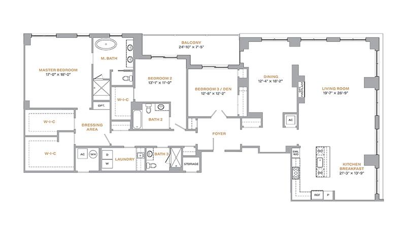 401 - 2,799 SF • 3 Bedrooms • 3 Baths